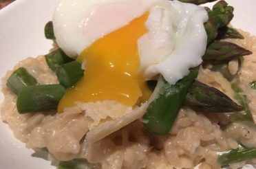 Asparagus Risotto with Poached Egg