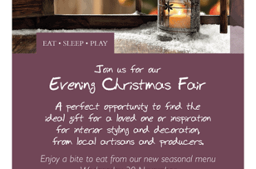 The Bell Inn's first evening Christmas Fair