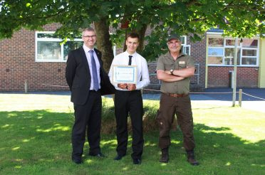 Arnewood School Pupil completes Woodland Management Course at Hoburne Bashley
