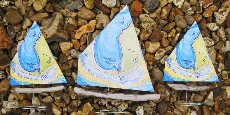 Hurst Castle Driftwood boats