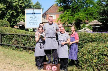 The Bell Inn, New Forest Awarded Second AA Rosette