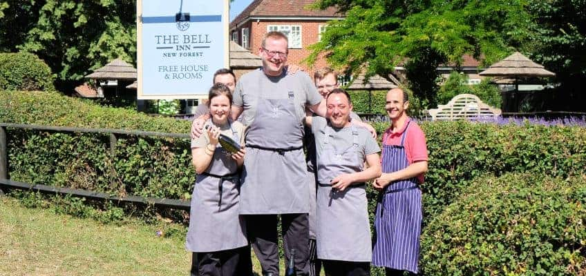 The Bell Inn, New Forest Awarded Second AA Rosette