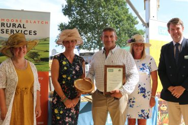 New member Andrew Parry-Norton wins award for Best Supporter of Local Produce in the CLA and New Forest National Park Authority awards