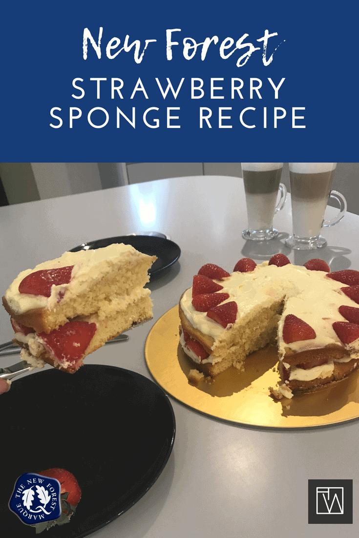 New Forest Strawberry Sponge