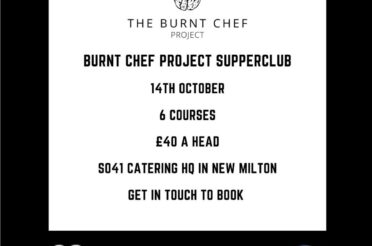 SO41 Catering joins forces with The Burnt Chef Project to hold a supper club on 14 October 2020